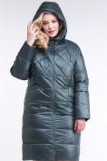Оптом Куртка зимняя женская стеганная темно-зеленого цвета 105-918_16TZ в Казани, фото 6