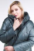 Оптом Куртка зимняя женская стеганная темно-зеленого цвета 105-918_16TZ в Казани, фото 7