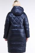 Оптом Куртка зимняя женская стеганная темно-синего цвета 105-918_23TS в Казани, фото 4