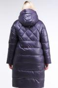 Оптом Куртка зимняя женская стеганная темно-фиолетового цвета 105-918_24TF в Казани, фото 5