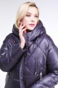 Оптом Куртка зимняя женская стеганная темно-фиолетового цвета 105-918_24TF в Казани, фото 6