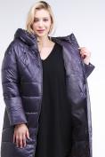 Оптом Куртка зимняя женская стеганная темно-фиолетового цвета 105-918_24TF в Казани, фото 7