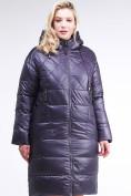 Оптом Куртка зимняя женская стеганная темно-фиолетового цвета 105-918_24TF в Казани, фото 2