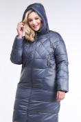 Оптом Куртка зимняя женская стеганная темно-серого цвета 105-918_25TC в  Красноярске, фото 6
