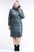 Оптом Куртка зимняя женская классическая  темно-зеленый цвета 108-915_16TZ в  Красноярске