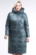 Оптом Куртка зимняя женская классическая  темно-зеленый цвета 108-915_16TZ в  Красноярске, фото 2