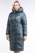 Оптом Куртка зимняя женская классическая  темно-зеленый цвета 108-915_16TZ в  Красноярске, фото 3