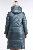 Оптом Куртка зимняя женская классическая  темно-зеленый цвета 108-915_16TZ в  Красноярске, фото 4