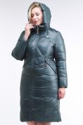 Оптом Куртка зимняя женская классическая  темно-зеленый цвета 108-915_16TZ в  Красноярске, фото 5