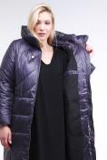 Оптом Куртка зимняя женская классическая  темно-фиолетовый цвета 108-915_24TF в Казани, фото 5