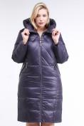 Оптом Куртка зимняя женская классическая  темно-фиолетовый цвета 108-915_24TF в Казани, фото 2