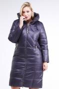 Оптом Куртка зимняя женская классическая  темно-фиолетовый цвета 108-915_24TF в Казани, фото 3