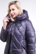 Оптом Куртка зимняя женская классическая  темно-фиолетовый цвета 108-915_24TF в Казани, фото 6