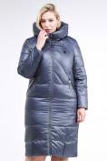 Оптом Куртка зимняя женская классическая темно-серого цвета 108-915_25TC в Екатеринбурге, фото 2