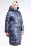 Оптом Куртка зимняя женская классическая темно-серого цвета 108-915_25TC в Екатеринбурге, фото 3