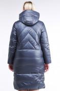 Оптом Куртка зимняя женская классическая темно-серого цвета 108-915_25TC в Екатеринбурге, фото 4