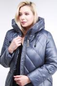 Оптом Куртка зимняя женская классическая темно-серого цвета 108-915_25TC в Екатеринбурге, фото 7