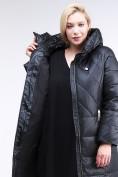 Оптом Куртка зимняя женская классическая черного цвета 108-915_701Ch в  Красноярске, фото 9