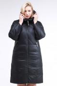 Оптом Куртка зимняя женская классическая черного цвета 108-915_701Ch в  Красноярске, фото 3