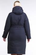 Оптом Куртка зимняя женская классическая темно-синего цвета 110-905_18TS в Казани, фото 4