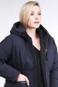 Оптом Куртка зимняя женская классическая темно-синего цвета 110-905_18TS в Казани, фото 6