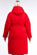 Оптом Куртка зимняя женская классическая красного цвета 110-905_4Kr в Казани, фото 5
