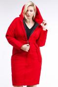 Оптом Куртка зимняя женская классическая красного цвета 110-905_4Kr в Казани, фото 4