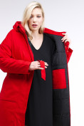 Оптом Куртка зимняя женская классическая красного цвета 110-905_4Kr в Казани, фото 7
