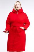 Оптом Куртка зимняя женская классическая красного цвета 110-905_4Kr в Казани, фото 2