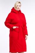 Оптом Куртка зимняя женская классическая красного цвета 110-905_4Kr в Казани, фото 3