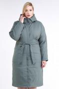 Оптом Куртка зимняя женская классическая цвета хаки 110-905_7Kh в Нижнем Новгороде, фото 3