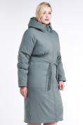 Оптом Куртка зимняя женская классическая цвета хаки 110-905_7Kh в Нижнем Новгороде, фото 4