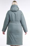 Оптом Куртка зимняя женская классическая цвета хаки 110-905_7Kh в Нижнем Новгороде, фото 5