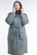 Оптом Куртка зимняя женская классическая цвета хаки 110-905_7Kh в Нижнем Новгороде, фото 6