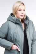 Оптом Куртка зимняя женская классическая цвета хаки 110-905_7Kh в Нижнем Новгороде