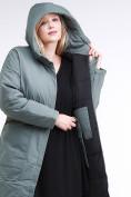 Оптом Куртка зимняя женская классическая цвета хаки 110-905_7Kh в Нижнем Новгороде, фото 7