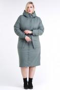 Оптом Куртка зимняя женская классическая цвета хаки 110-905_7Kh в Нижнем Новгороде, фото 2