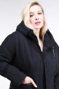 Оптом Куртка зимняя женская классическая черного цвета 110-905_701Ch в  Красноярске, фото 5