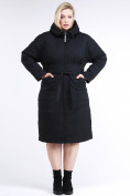 Оптом Куртка зимняя женская классическая черного цвета 110-905_701Ch в  Красноярске