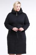 Оптом Куртка зимняя женская классическая черного цвета 110-905_701Ch в  Красноярске, фото 2