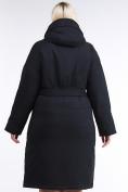 Оптом Куртка зимняя женская классическая черного цвета 110-905_701Ch в  Красноярске, фото 4