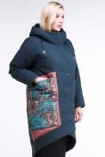 Оптом Куртка зимняя женская классическая БАТАЛ темно-зеленого цвета 112-901_14TZ в Казани