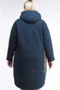 Оптом Куртка зимняя женская классическая БАТАЛ темно-зеленого цвета 112-901_14TZ в Казани, фото 4
