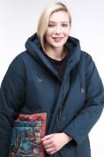 Оптом Куртка зимняя женская классическая БАТАЛ темно-зеленого цвета 112-901_14TZ в Казани, фото 5