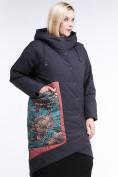 Оптом Куртка зимняя женская классическая БАТАЛ темно-серого цвета 112-901_18TC в Казани, фото 3
