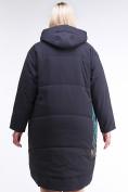 Оптом Куртка зимняя женская классическая БАТАЛ темно-серого цвета 112-901_18TC в Казани, фото 4