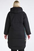 Оптом Куртка зимняя женская классическая БАТАЛ черного цвета 112-901_701Ch в Казани, фото 6