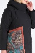 Оптом Куртка зимняя женская классическая БАТАЛ черного цвета 112-901_701Ch в Казани, фото 8