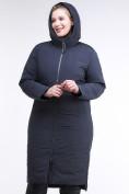 Оптом Куртка зимняя женская удлиненная темно-синего цвета 112-919_123TS в Казани, фото 6