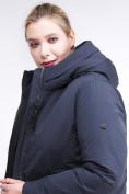 Оптом Куртка зимняя женская удлиненная темно-синего цвета 112-919_123TS в Казани